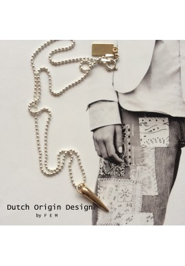 Necklace: Bronze Sparkle €89,-