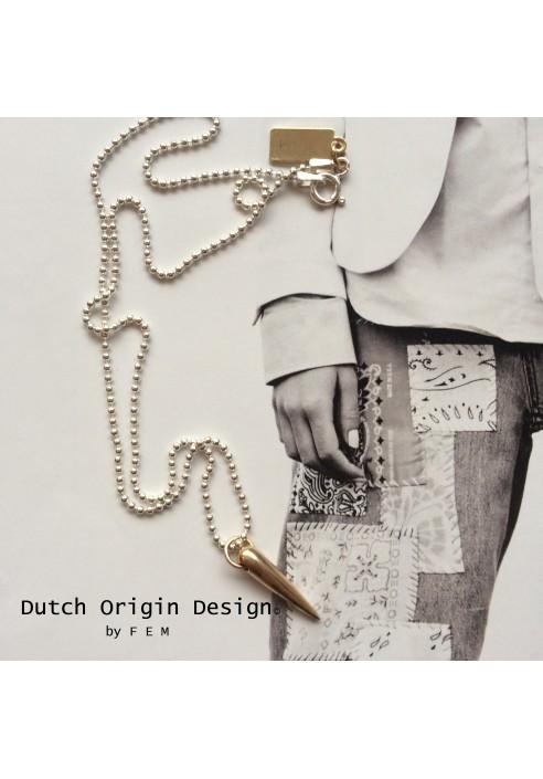Necklace: Bronze Sparkle €89,-