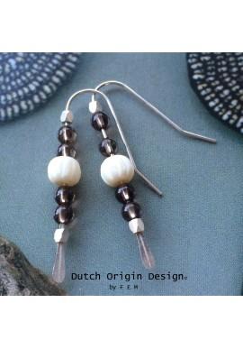 SOLD: Earrings Silver & Topaz