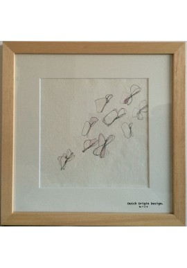 Pen & Ink drawing / frame size 30 x 30 cm